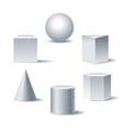 geometric 3d figures vector image