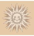 heraldic sun ancient vector image
