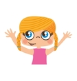 little girl cute character vector image