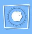 piggy bank icon savings money concept web button vector image