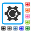 rotate gear framed icon vector image