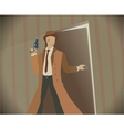 Detective noir style colored vector image