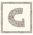 Ornamental letter for your design vector image vector image