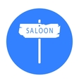 Saloon icon black Singe western icon from the vector image