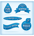 clear water labels vector image