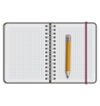 note book paper with pen vector image vector image