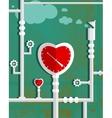 Love Heart Shape Steam Mechanism Graphic Design vector image