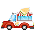 A vehicle selling sandwiches vector image