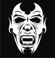 White Vampire Face vector image