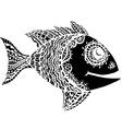 Monochrome stylized Fish vector image