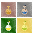 assembly flat shading style icons halloween potion vector image