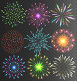 festive colorful firework salute burst on vector image