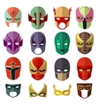 Hero mask characters flat icons vector image