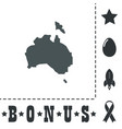 high map - australia vector image