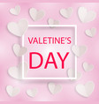romantic background valentines day with frame vector image