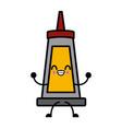sauce plastic bottle kawaii cartoon vector image