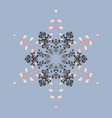 Silhouette snow flake sign isolated background vector image