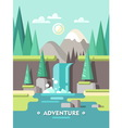 Summer Landscape Adventure vector image