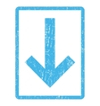 Down Arrow Icon Rubber Stamp vector image