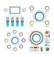 497colorful circle infographic set vector image