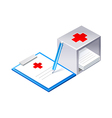 icon hospital chart vector image