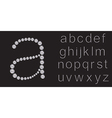 Diamond alphabet letters from A to Z vector image vector image