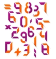 Set of digital numbers concepts vector image