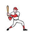 American Baseball Player Batting Cartoon vector image vector image