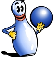 Hand-drawn of an Bowling Pin vector image vector image