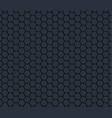 dark gray technology hexagon honeycomb seamless vector image
