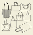 icon set of canvas bags collection vector image