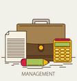 management flat design concept vector image