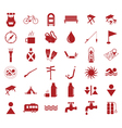 Set of tourist ecvipment icons vector image