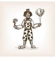 Clown sketch style vector image