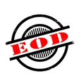 EOD rubber stamp vector image