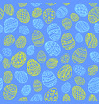 seamless background to easter with eggs 4 vector image