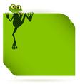 frog on a green leaf vector image