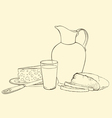 still life of healthy breakfast vector image
