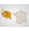 welcome to france vector image