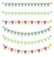 Bunting garland dotted flags vector image