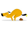 defecating dog cute smiling pooping pet vector image