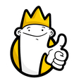 Funny king vector image