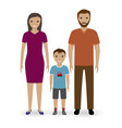 happy young family standing together father and vector image