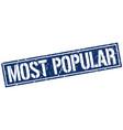 Most popular square grunge stamp vector image