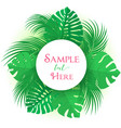 palm leaf decoration vector image