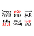 sale banner template elements set with lettering vector image