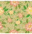 Seamless background with flowers dahlia vector image