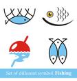 set of symbols Fishing vector image