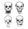 Skull tattoo art in sketch style vector image