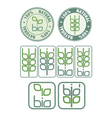Stamps and icon with bio symbol vector image